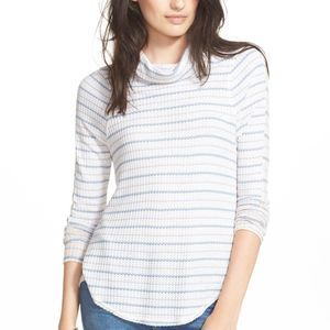 Free People Stripe Drippy Thermal Tee- Size XS